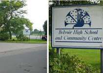 The entrance to Belvoir High School in Bottesford EMN-160418-095629001