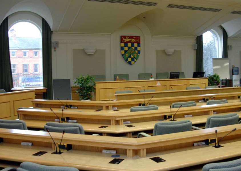 The South Kesteven District Council chamber.