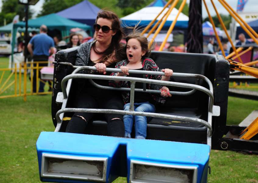 Enjoying the fair at Grantham Carnival. TRP-20-6-2015-374A (124