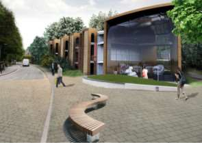 The first stage of the development planned along Stonebridge Road. Visuals courtesy of RG+P Ltd.