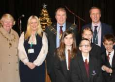 The Mayor and Mayoress of Grantham were guests at Charles Read Academy's first Christmas concert.