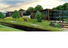 Grantham College's planned development along the riverbank. Visuals courtesy of RG+P Ltd.
