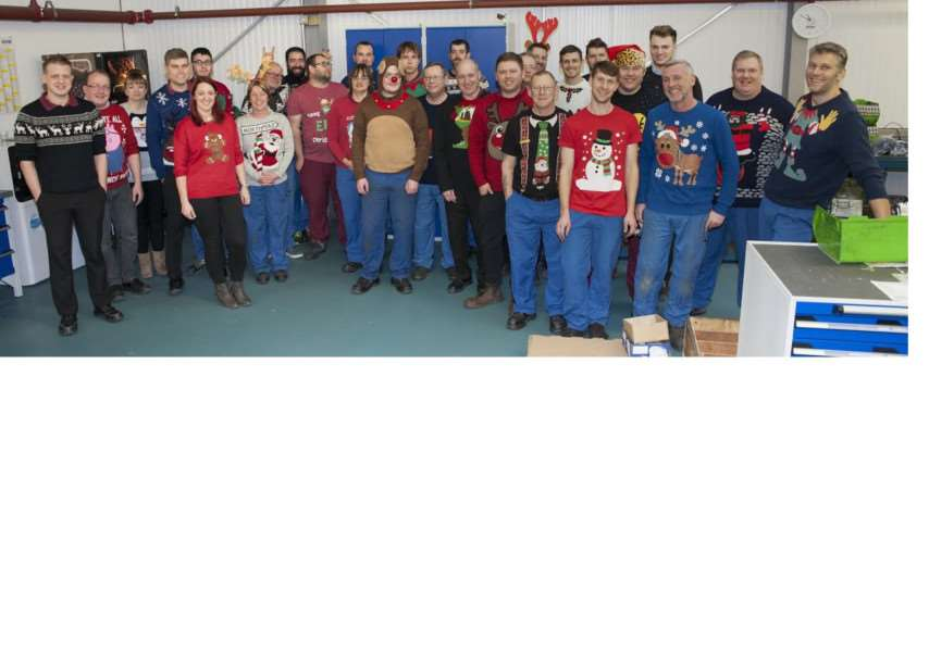 Staff at BGB in Grantham wear their Christmas jumpers