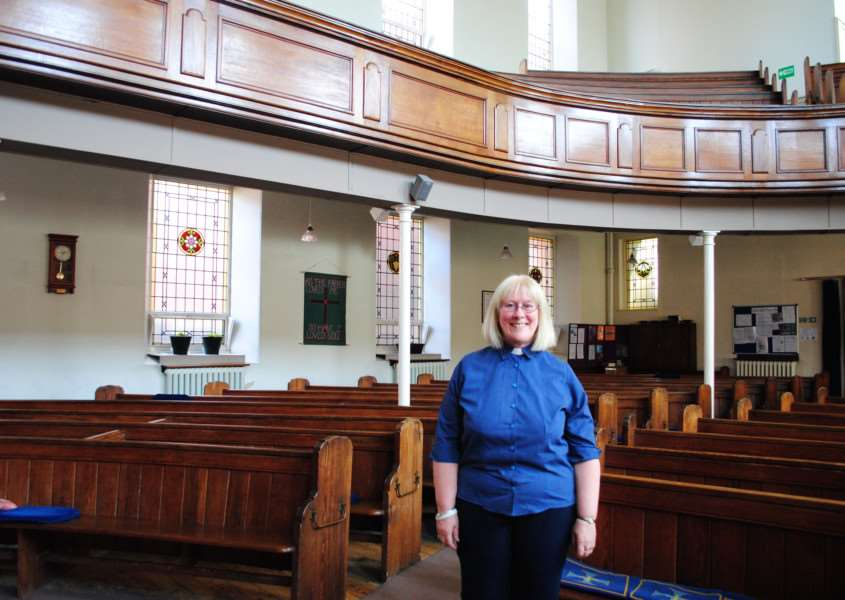The Rev Jane Campbell, Minister at ChristChurch in Grantham.