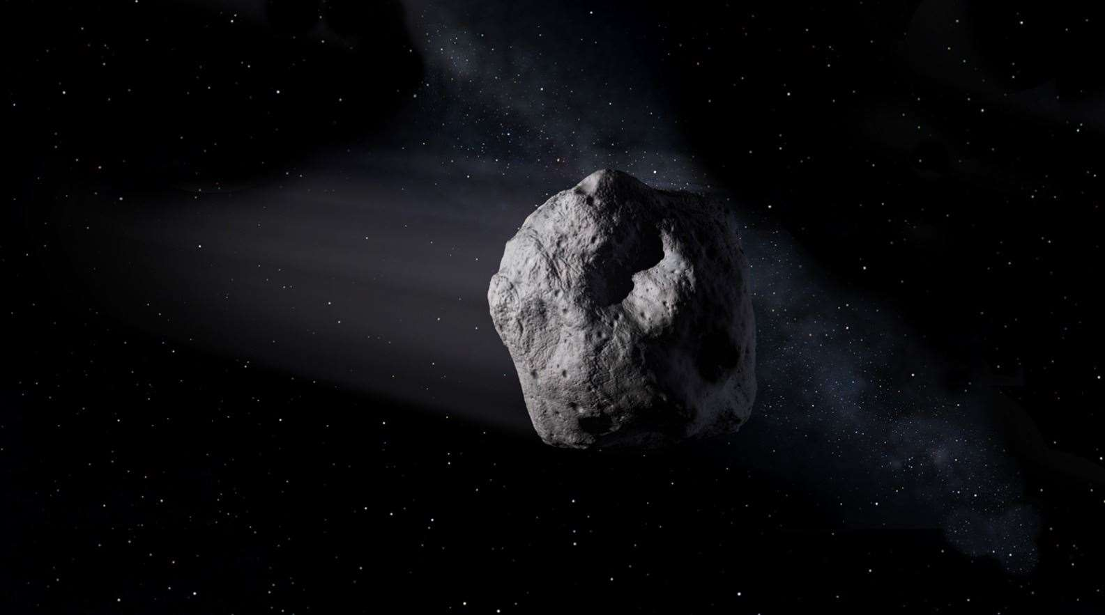 The asteroid is set to whizz past earth this week. Stock picture