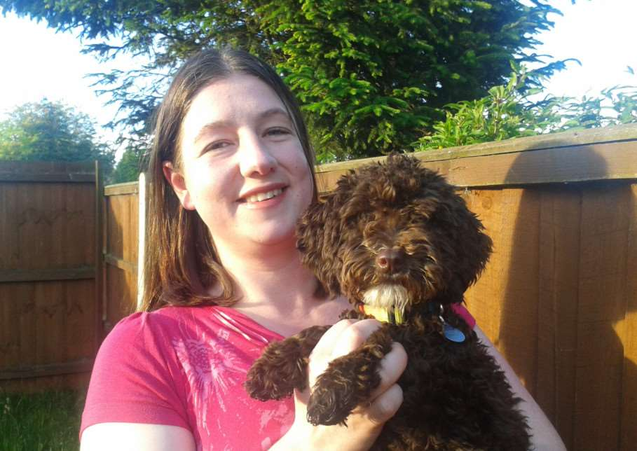 Author Sarah Hindmarsh with her beloved dog Kohla.
