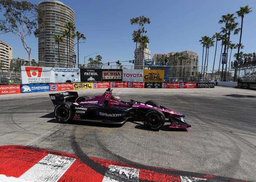 Jack Harvey on track at Long Beach.