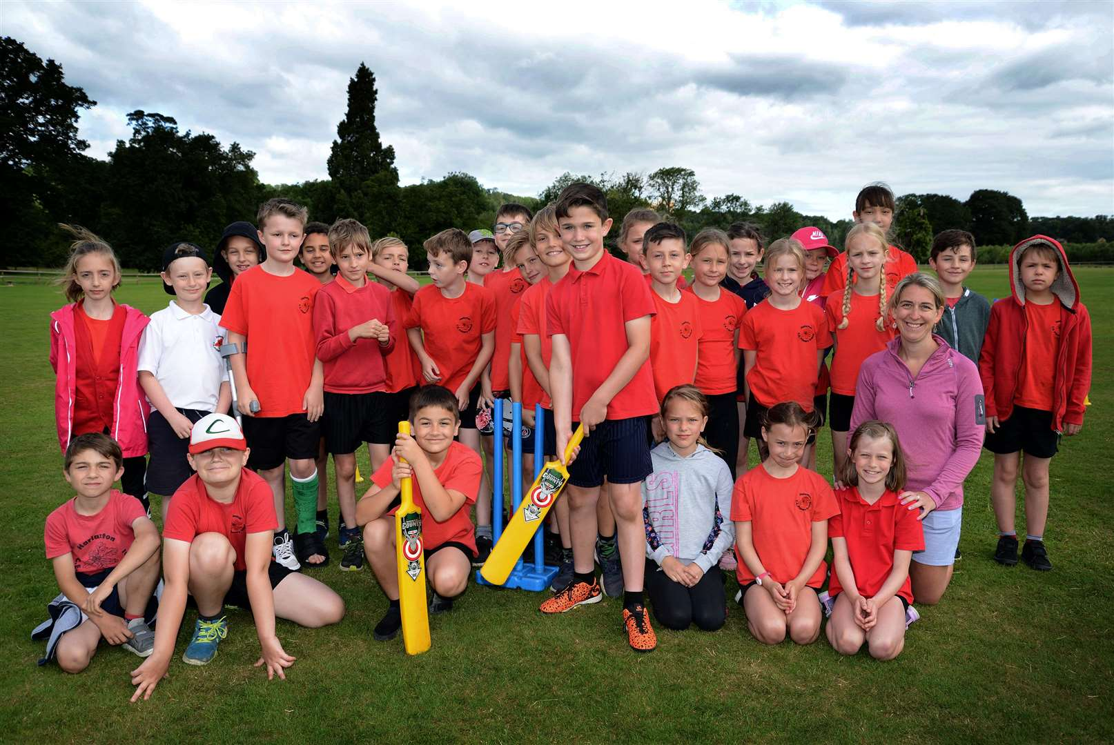Pupils at Harlaxton on their cricket activity day. (14826593)