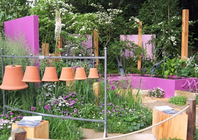 The acoustic garden at the Chelsea Flower Show.