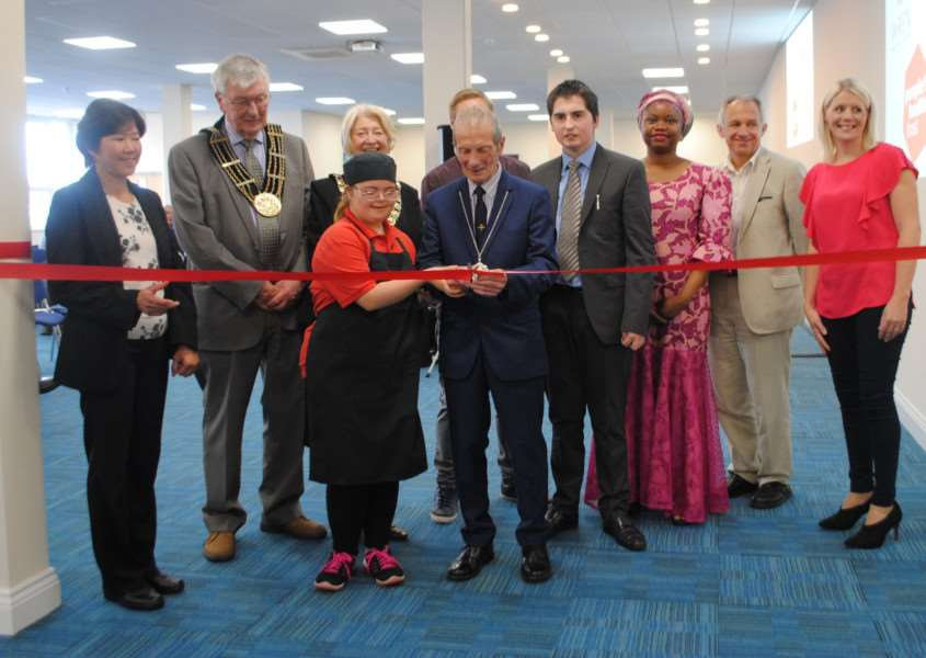 South Kesteven District Council vice chairman, Councillor George Chivers, cut the ribbon to open the centre's new rooms on Monday.