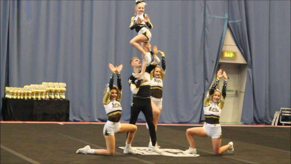 The Falcons competed in a national cheerleading competition in Sheffield.
