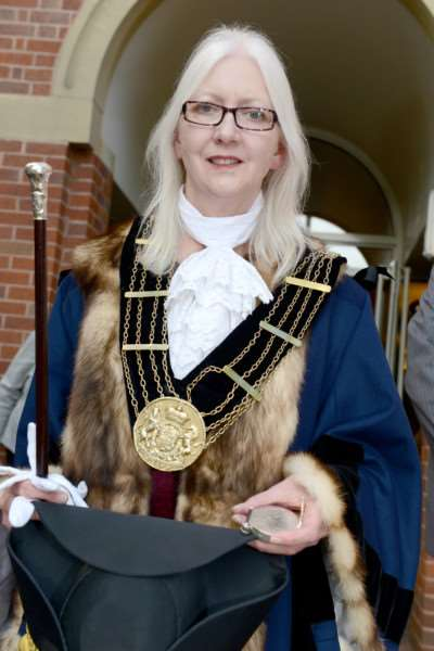 Mayor of Grantham Coun Linda Wootten. EMN-160531-154609001
