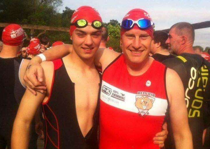 Tom Cotton and Belvoir Tri Club's Alistair Knott.