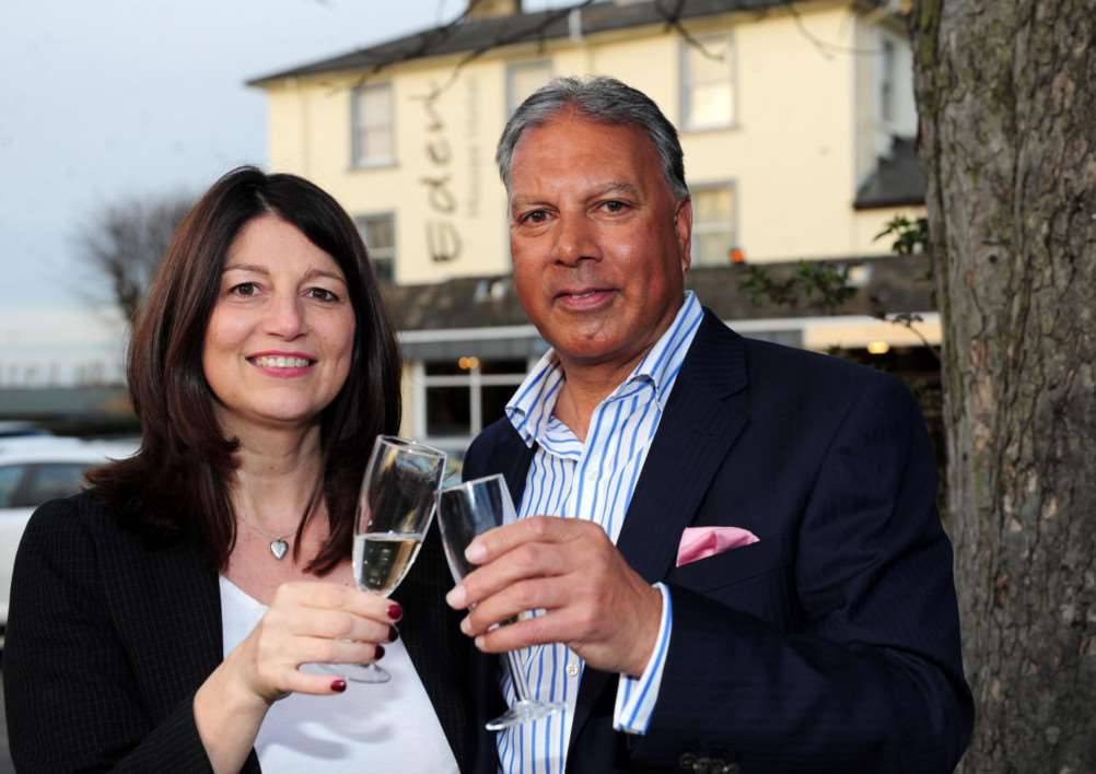 Chris and Theresa Duggan celebrate the launch of their new look Eden House Hotel.