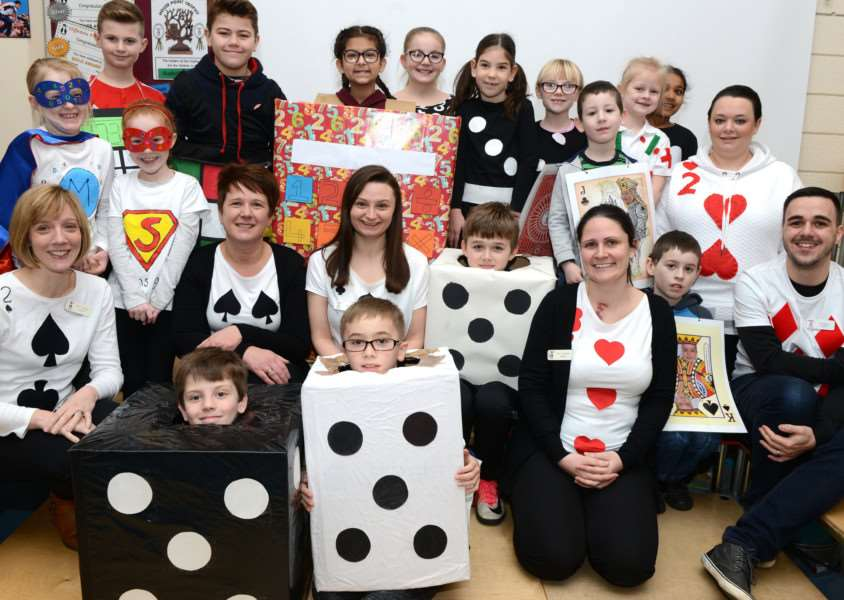 Staff and students managed to raise �230 for charity by dressing up and taknig part in maths activities.