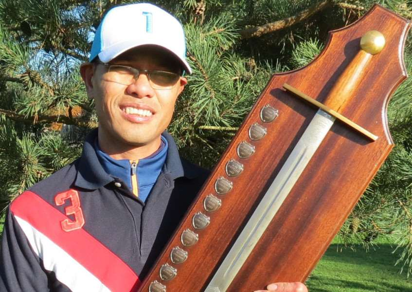 Ronie Alipio and the Sudbrook Moor Sword of Achievement.
