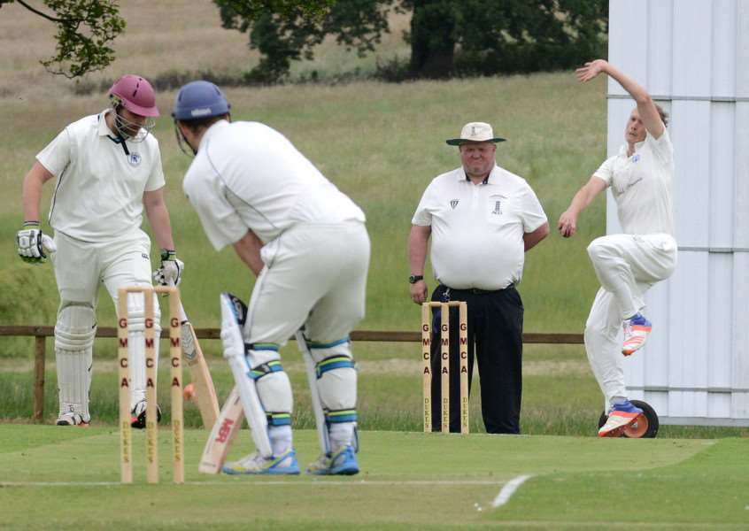 Phil Irvine bowling for Belvoir. Photo: Toby Roberts