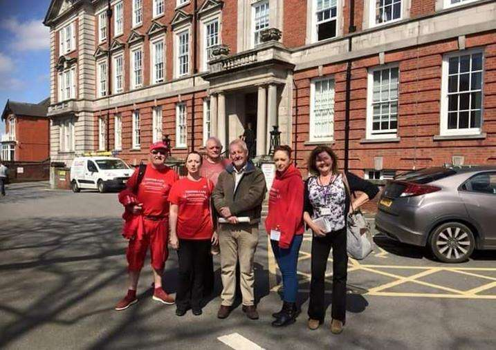 Hospital campaigners attended the health scrutiny committee this week.