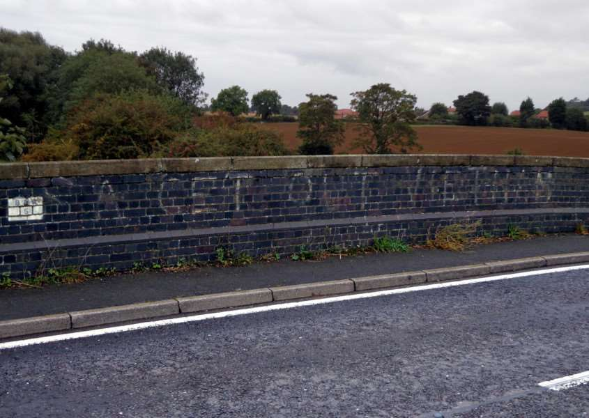 Terry Welbourn sent in this photo of what he believes is historic political graffiti on the bridge at Carlton Scroop.