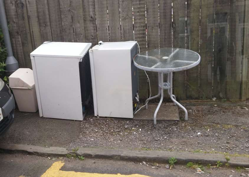 Items have been left by fly-tippers in Brewery Hill.