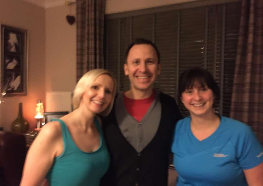 Jo Phillips, left is helping to train the Corby Glen fund-raisers, including Paul Phillips and Amy Roberts.