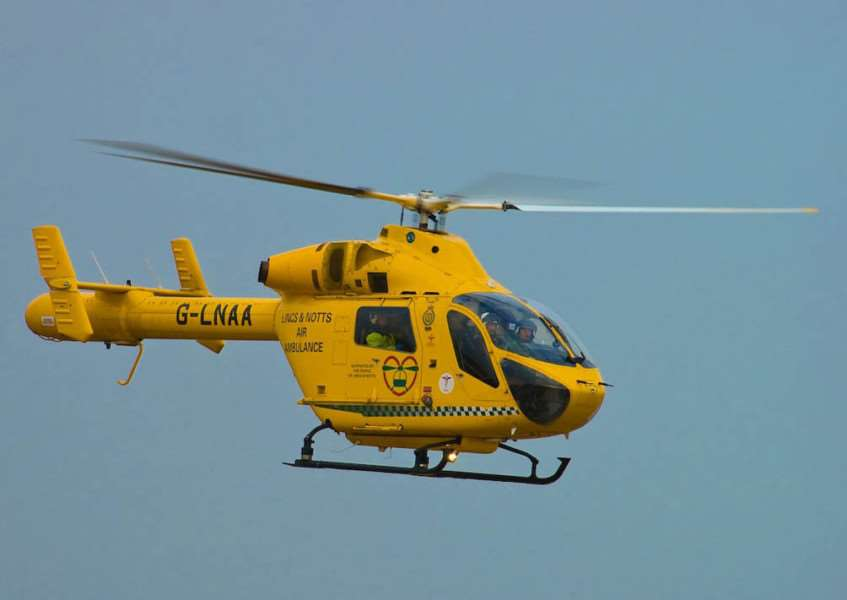 A Lincs and Notts Air Ambulance ambucopter. Photo supplied.