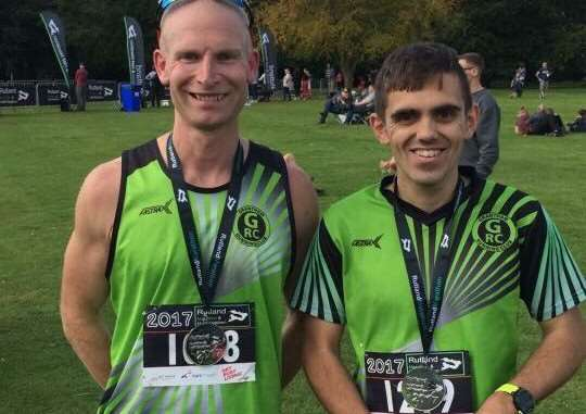 Grantham Running Club's Gav Meadows and Matthew Williamson
