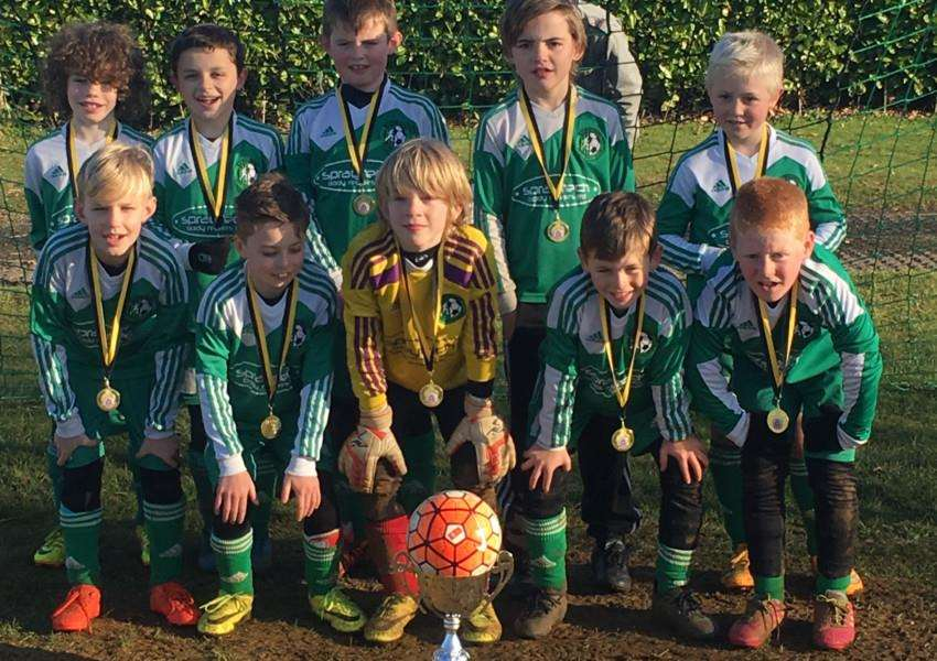 Barrowby Blades U9 in no particular order are ' Sonnie, Oliver, Riley, Callum, Liam, Toby, Joe Joe, Freddie, Alfie and Beck.