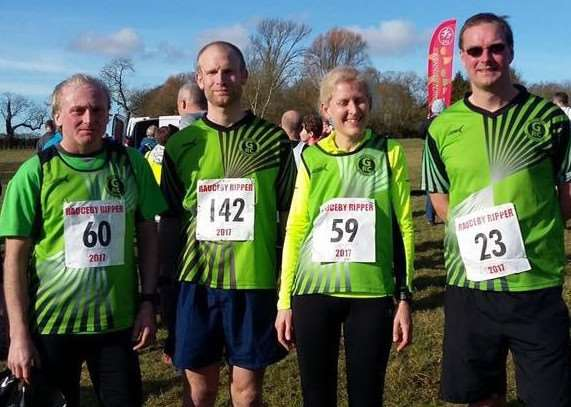 Pictured from left are Grantham RC's Paul Davis, Gavin Meadows, Caroline Davis and Peter Bonner.