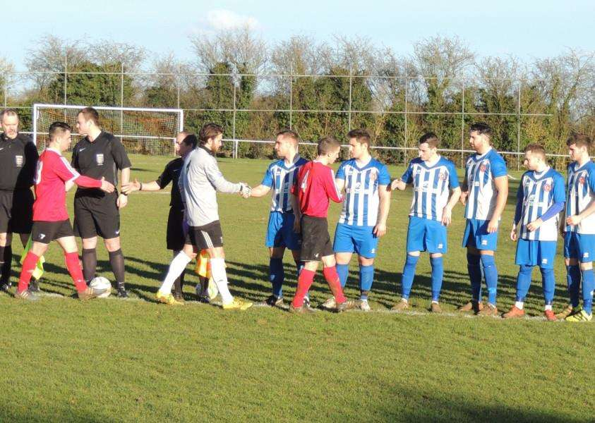 Harrowby United are welcomed to Sergeants Lawn by Rothwell Corinthians.