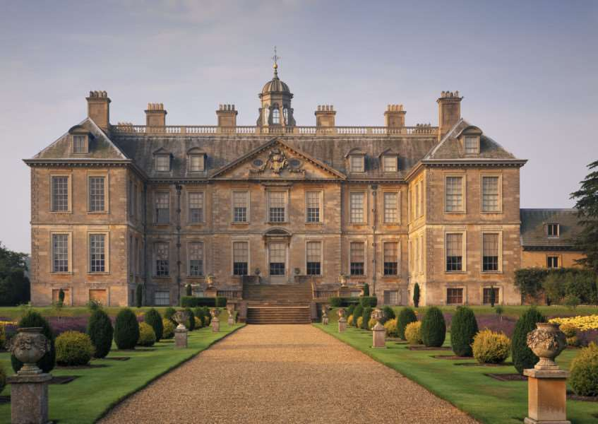 The North Front at Belton House, Lincolnshire, a Restoration country house built 1685-88.