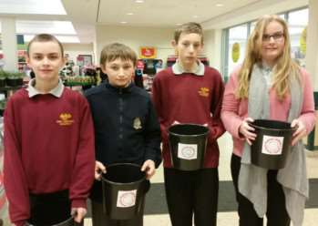 Phoenix School bag packs to raise money for Grantham Disabled Children Society.
