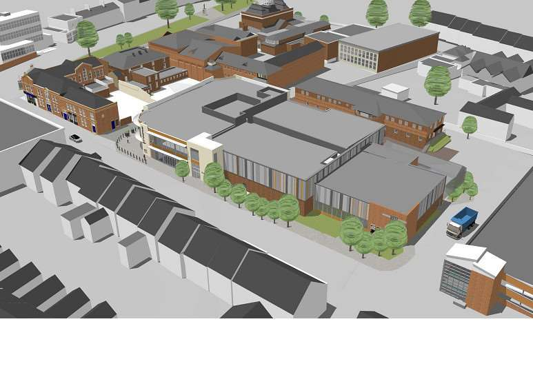 Artist's impression of the new Reel cinema complex to be built in Grantham. EMN-140814-105847001