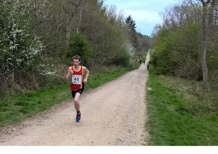 Aaron Hunt on his way to victory in Bourne Woods.