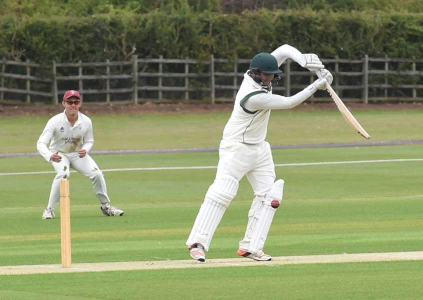 Dan Freeman batting for Grantham CC. Photo: Toby Roberts