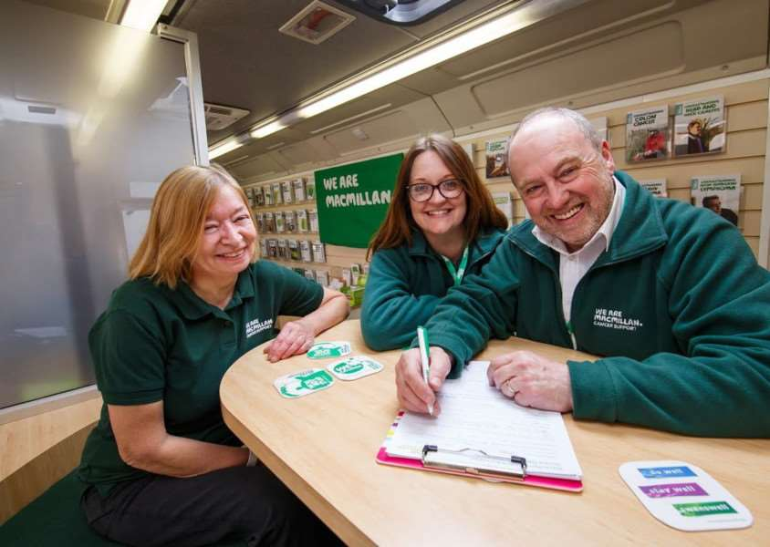Visitors to the Macmillan unit can get free support and advice.
