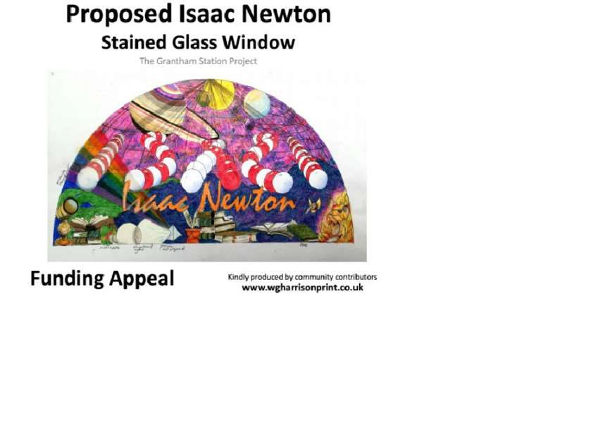 Sketch of Isaac Newton stained glass window. EMN-160322-191845001 EMN-160322-191845001