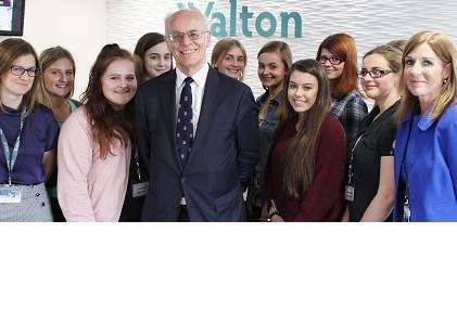 Lord Norton visited Walton Girls' High School.