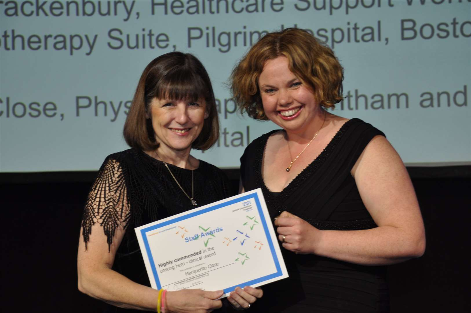 Grantham Hospital physiotherapist Marguerite Close was Highly Commended in the Unsung Hero - Clinical category at the ULHT Staff Awards. (9891303)