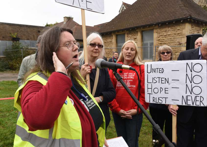 Protest march through Grantham to highlight the closure of the A and E Department at Grantham Hospital Charmaine Morgan EMN-161029-180815009