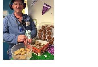 Macmillan coffee event at PAS. Pictured is Andrew Parker