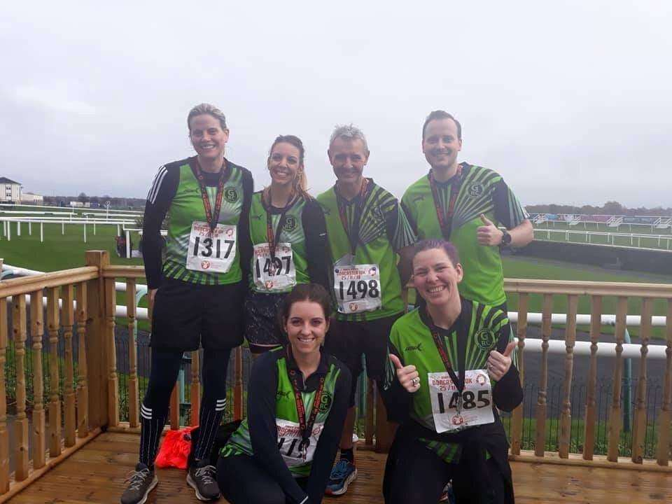 GRC Runners at the 2018 Doncaster 10K, held on Sunday 25th November. (5646358)