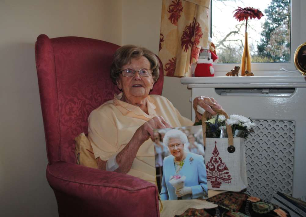 Cilla Beal celebrates her 100th birthday on Christmas Day. Photo: 0292A
