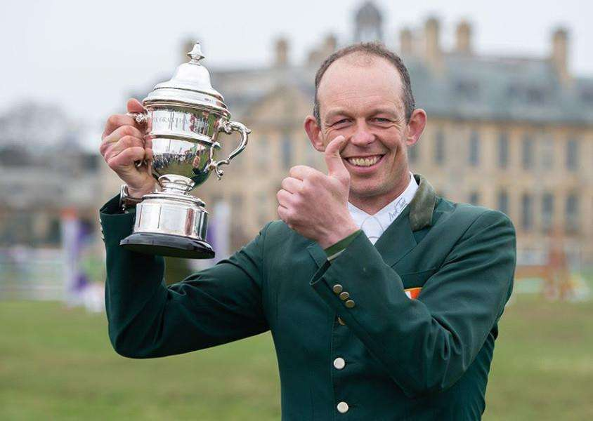 Jonty Evans wins the the Lycett's Grantham Cup at the Belton International Horse Trials. Photo: Adam Fanthorpe