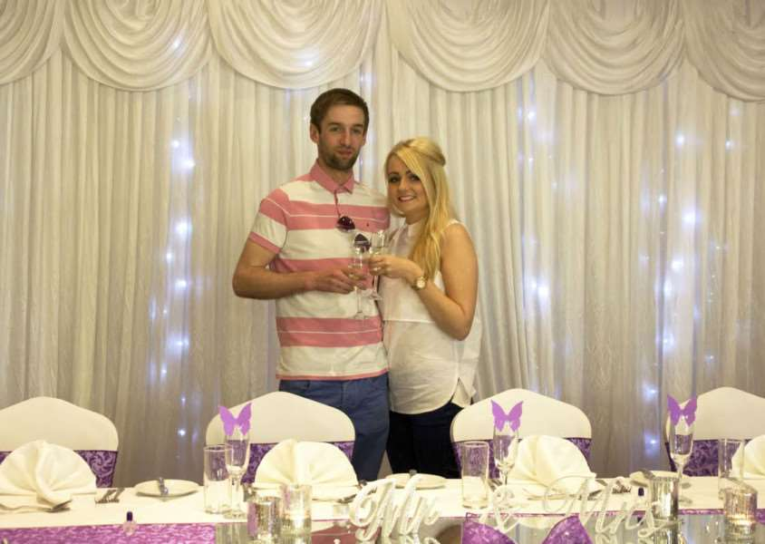 Winners Ryan Jones and Jodie Smith are looking forward to their big day.