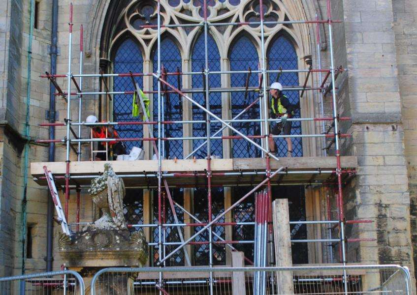 Repairs to the west window of the south aisle at St Wulfram's Church are expected to cost �80,000.