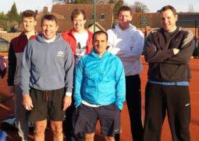 Grantham Tennis Club men's first team have gone top of the table in the Nottinghamshire League.