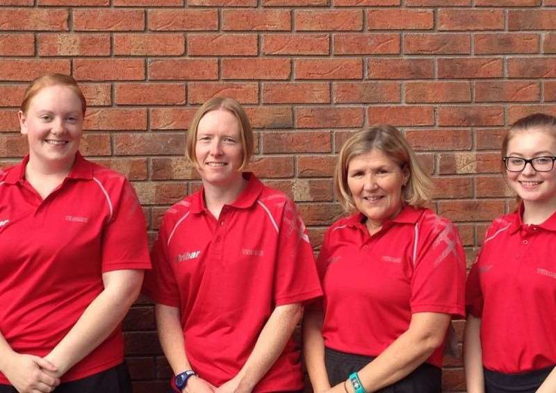 Cliffedale Chandlers WBL team are, from left - Hannah Winfield, Kris Sumner, Jane Ellis and Alexandra Robinson.