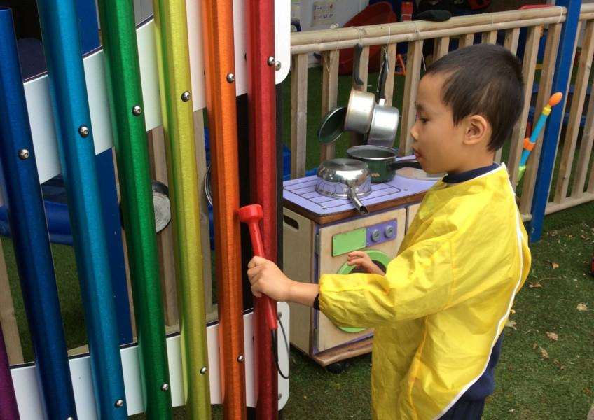 Lottery money has allowed Sandon School to install sensory equipment in its playground.