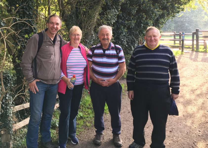 Graham Cowell, David Howitt, David Graham, Sandra Lawson and Ian Death, raised over �900 for Supporters Club funds.